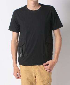 リバー天竺脇切替半袖Tシャツ