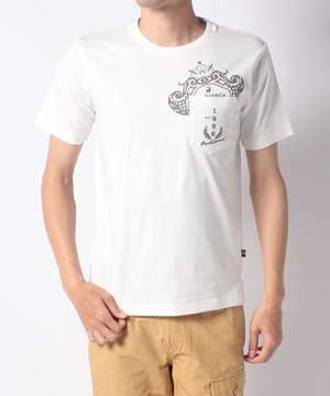 USコットン胸ポケット付半袖Tシャツ