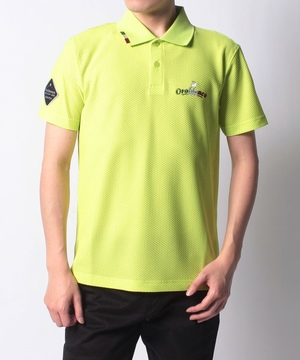 プラスリッチメッシュ半袖ポロシャツ