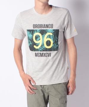マーブル天竺モチーフプリント半袖Tシャツ