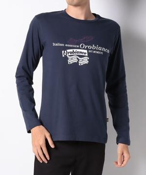 USコットンロゴモチーフ長袖Tシャツ
