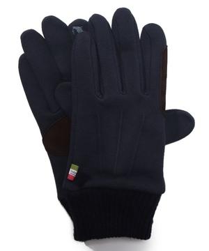 タッチパネル対応スエット生地ニットカフス付き手袋