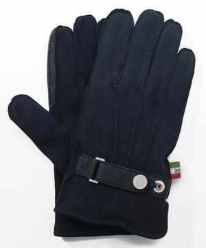 シープスエードベルト付き革手袋