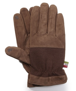 タッチパネル対応異素材コンビネーション革手袋