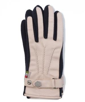 革パーム&ベルト付きスマート手袋