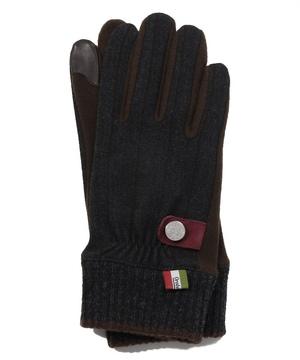 タッチパネル対応ニットカフス付き異素材ミックス手袋