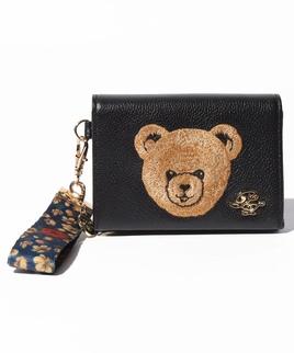 クマ刺繍 カードケース