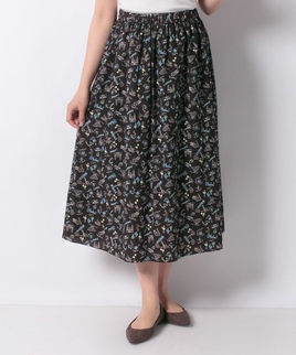 【セットアップ対応商品】手書き風プリント柄スカート