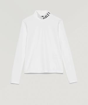 タートルネックロゴ長袖Tシャツ・カットソー