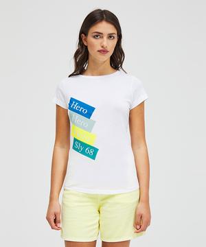 ハピネス型押しラウンドネック半袖Tシャツ・カットソー