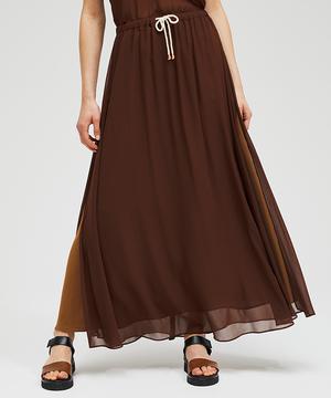 クレープサイドスリットロングスカート