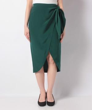 ポリアシメフリルサイドリボンスカート