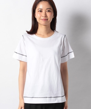 ボクシーステッチラウンドネック半袖Tシャツ・カットソー