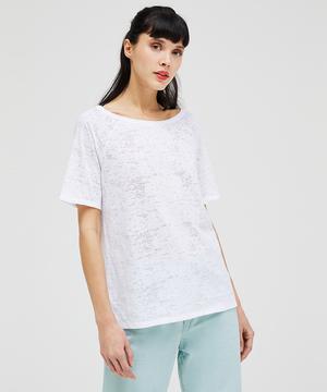 デヴォレボートネック半袖Tシャツ・カットソー