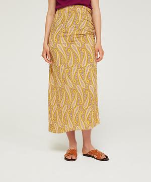 ペイズリープリントスリットスカート