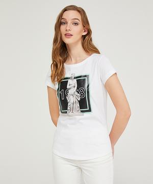 ラミネートプリントTシャツ・カットソー