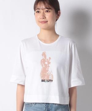 オーバーフィットアクアプリント7分袖Tシャツ・カットソー
