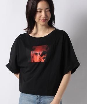 型押しワイドスリーブ半袖Tシャツ・カットソー