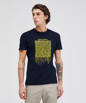 コットンスラブ型押し半袖Tシャツ・カットソー