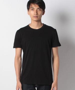 コットンラウンドネックコントラスト半袖Tシャツ・カットソー