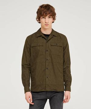 カモフラプリントオーバーサイズシャツジャケット