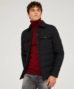 ナイロンライトキルティングオーバーシャツジャケット