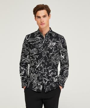 総柄レギュラーフィットシャツ・ブラウス