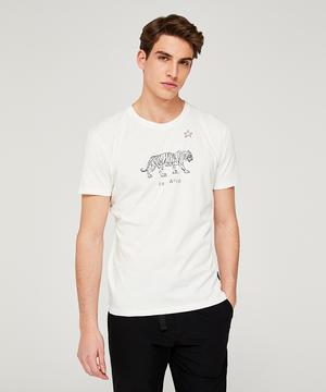 タイガー型押し半袖Tシャツ・カットソー