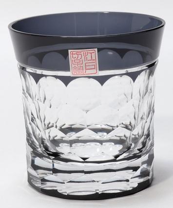 江戸切子亀甲ロックグラス