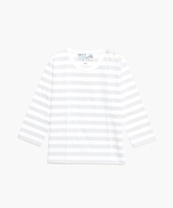 J008 L TS ベビー ボーダーTシャツ