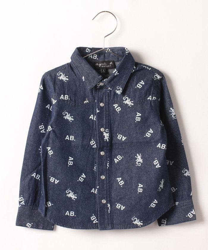 【セットアップ対応商品】ICQ1 E CHEMISE キッズ アイコンモチーフプリントシャツ