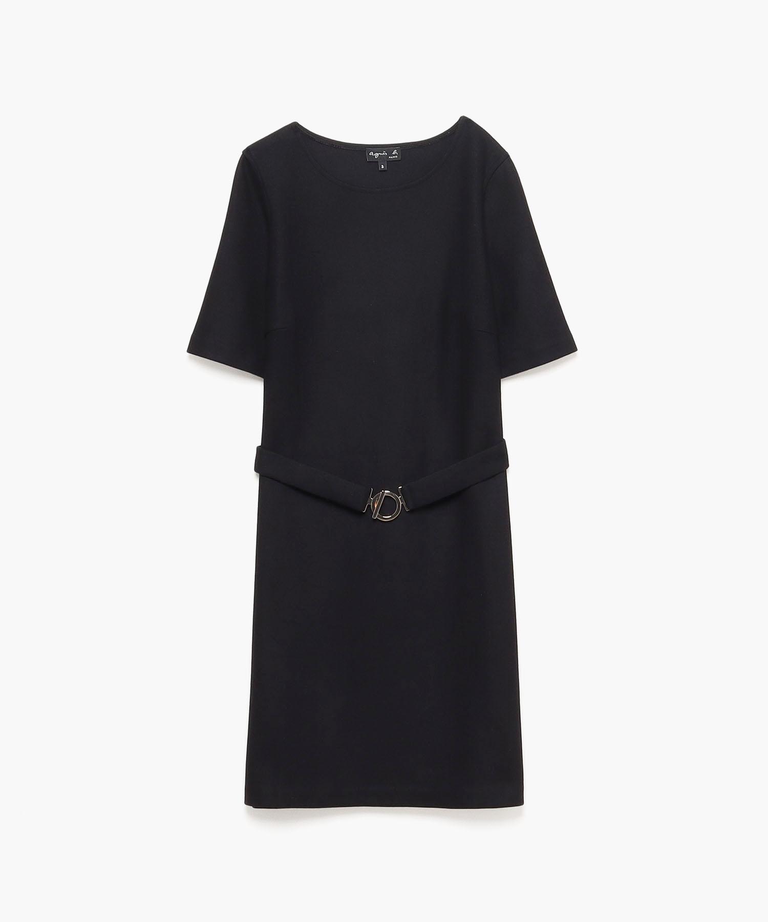 JBB9 ROBE ウールベルテッドドレス