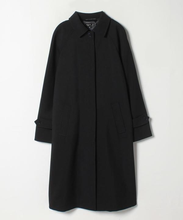 TAV1 MANTEAU ジャガード織りマニッシュコート