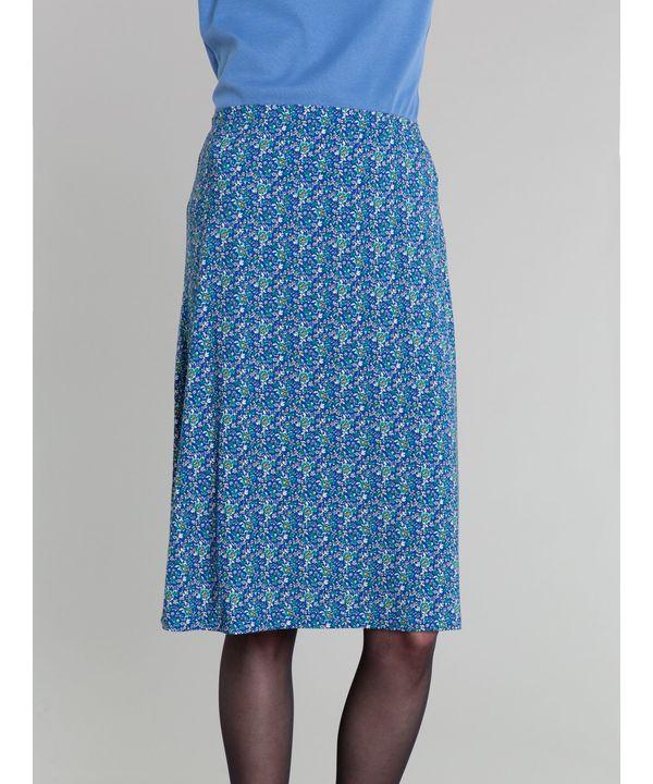 JGY5 ブルーフラワープリントスカート