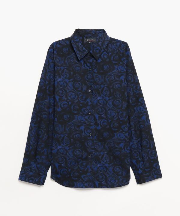 IIE89 CHEMISE ローズプリントシャツ