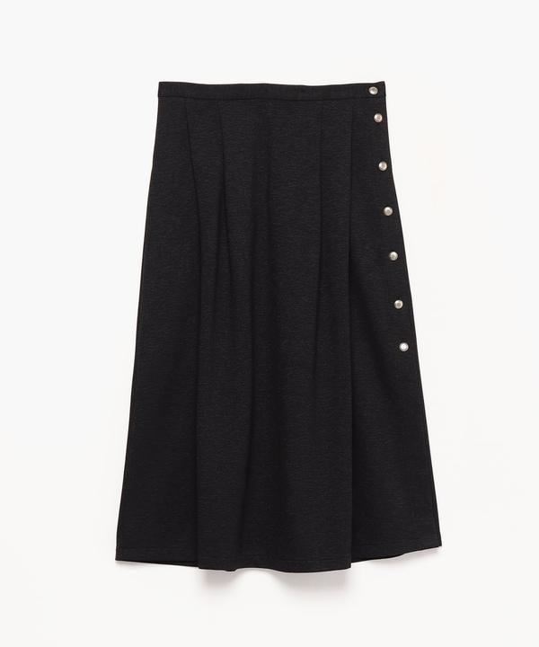 JEA1 JUPE ミモレ丈 サイドボタンスカート