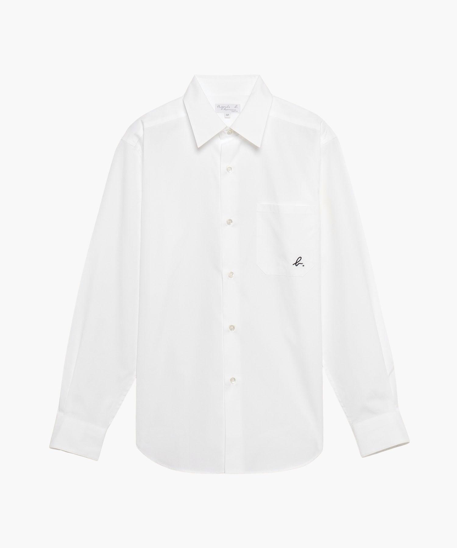【WEB限定】UQ25 CHEMISE b.ロゴコットンシャツ