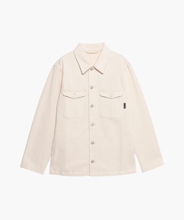 AE47 CHEMISE ウォッシュドコットンダブルフラップシャツジャケット