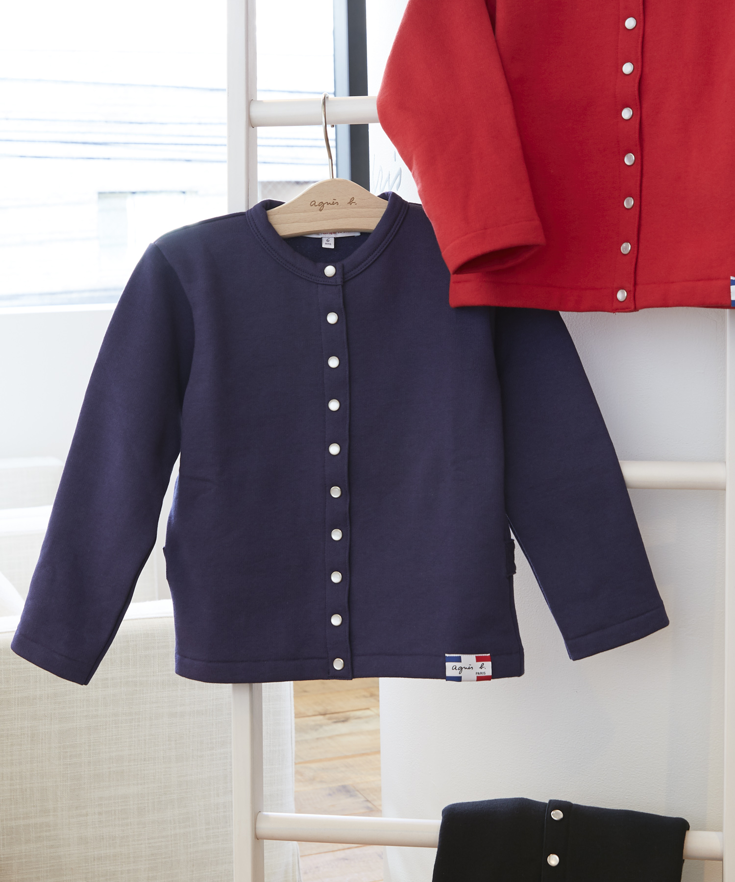 M001 E CARDIGAN キッズ カーディガンプレッション [Made in France]