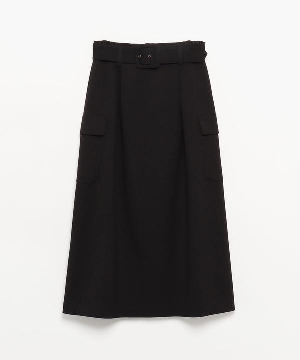 WQ06 JUPE フラップポケットロングスカート