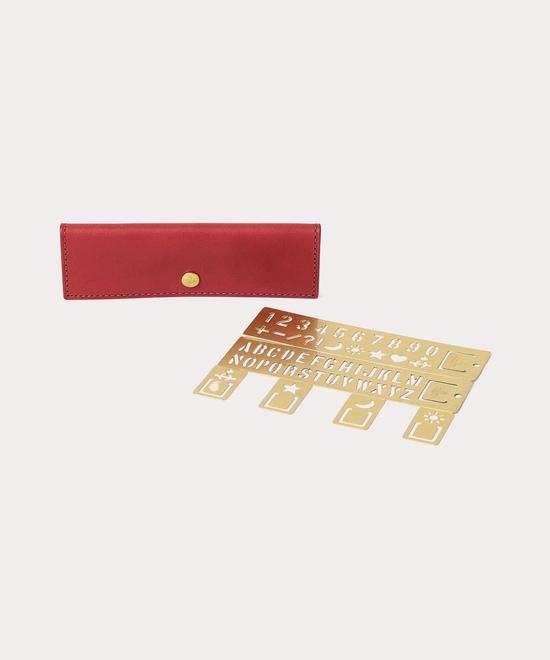 BRASS COIN ケース付ステンシル&ブックマーカー