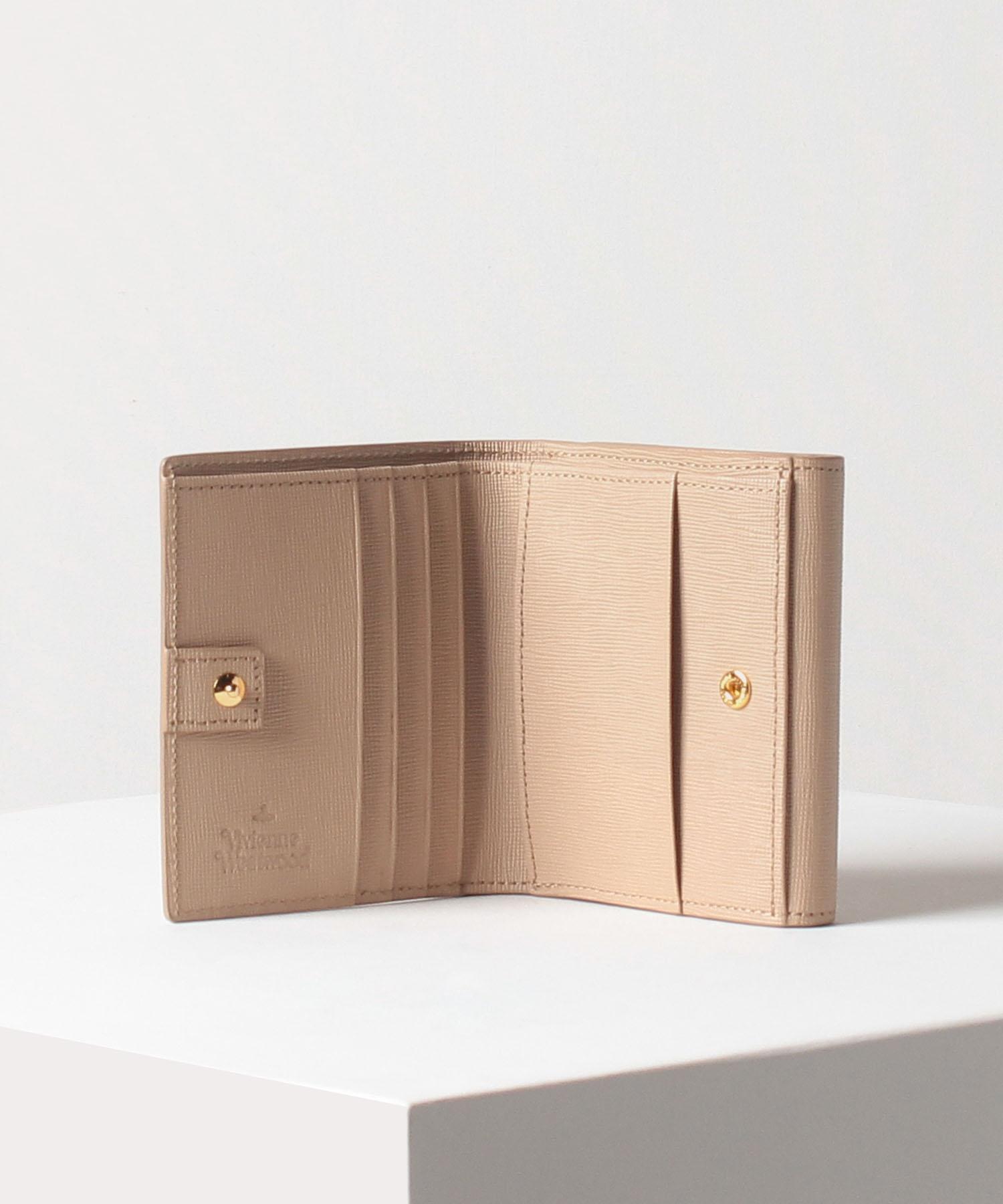 メタルフレーム 二つ折り財布