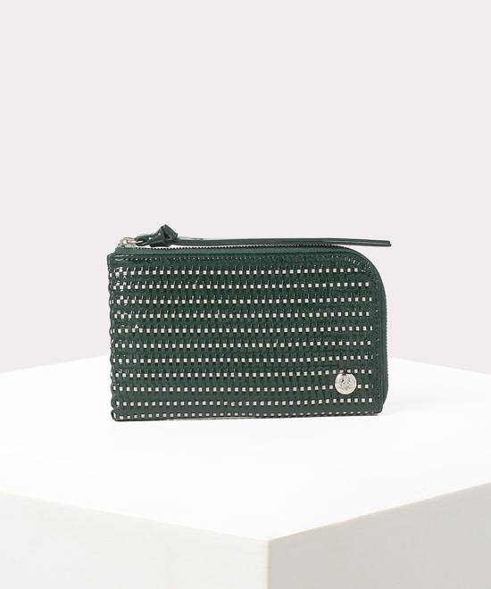 レザーメッシュ L字ファスナー財布
