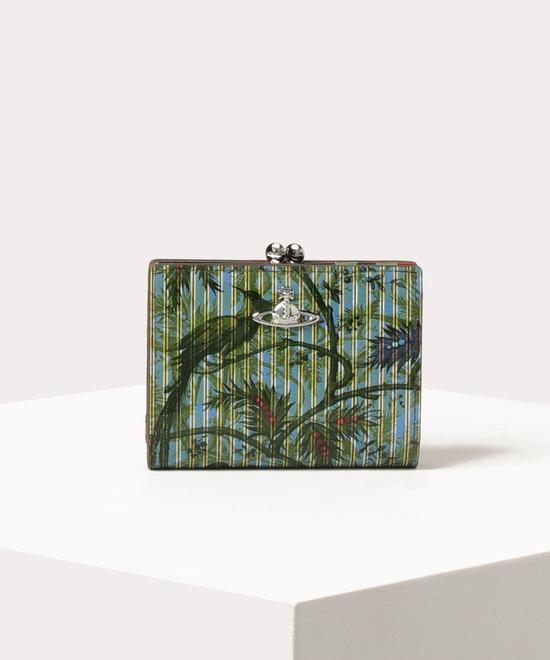 パラダイスプリント  口金二つ折り財布