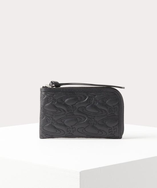 キルティングWATER ORB L字ファスナー財布