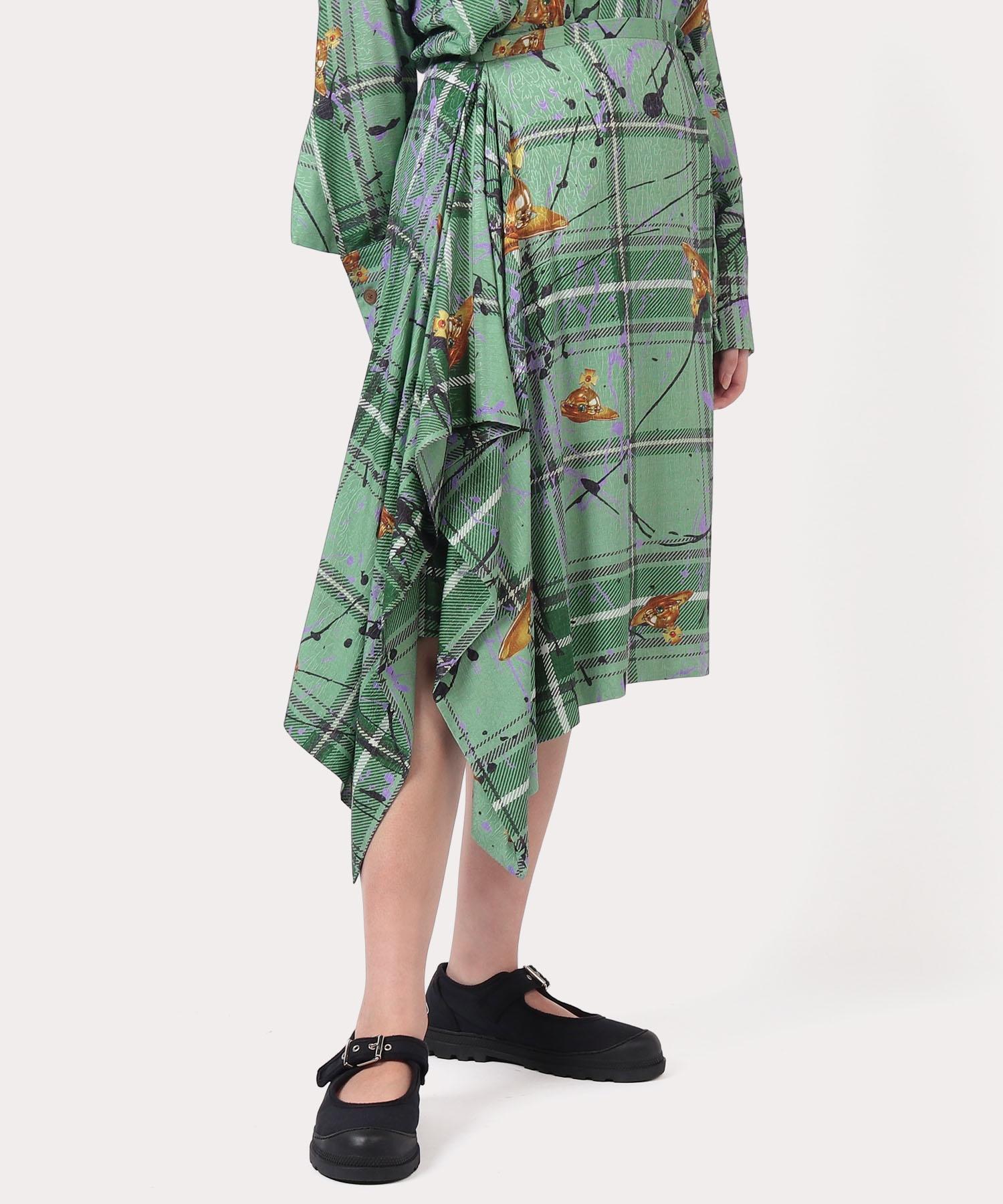 タータン3DORB アシンメトリースカート