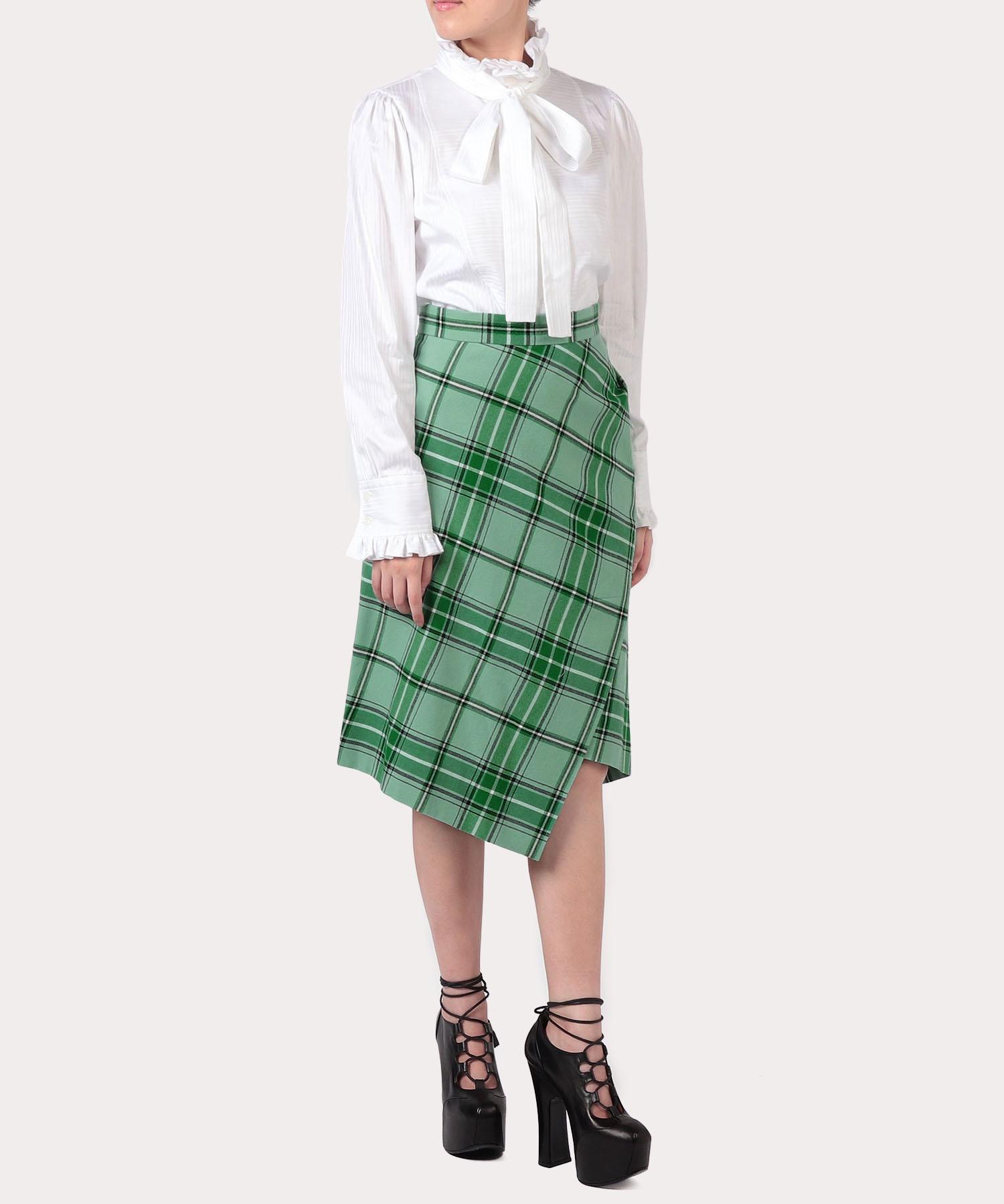 タータンチェック ツイストスカート