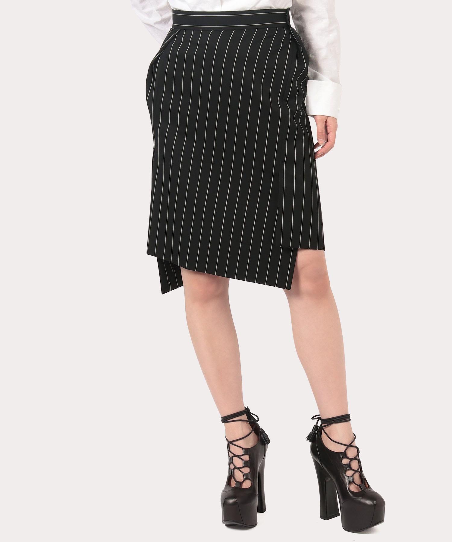 ウールギャバ ツイストスカート