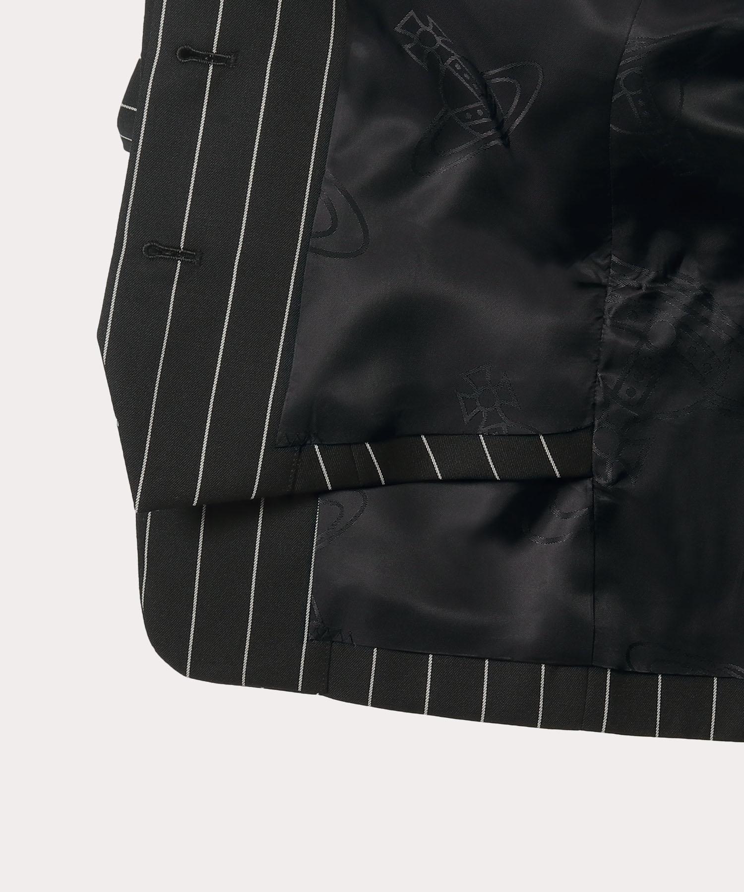 ウールギャバ ダブルフロントジャケット