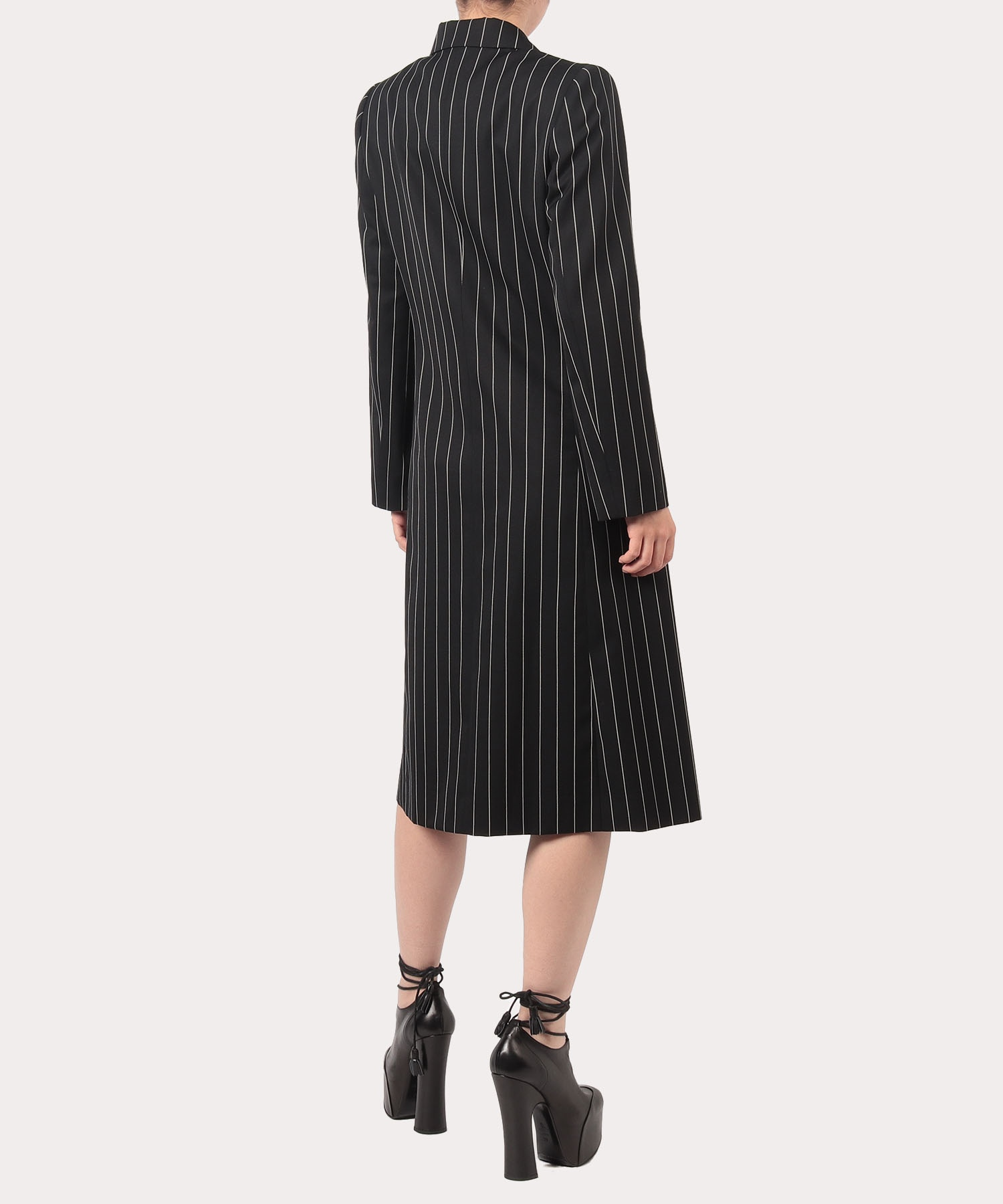 ウールギャバ コートドレス
